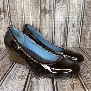 Rockport patent leather wedges - brown size 8